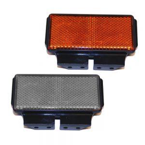 Reflex med hållare. Orange/Vit