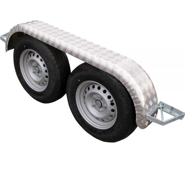 Skärmar till boggihjul, aluminium