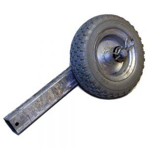 Stolpe m. hjul TK1139 plåtfälg, diam. 200 mm.