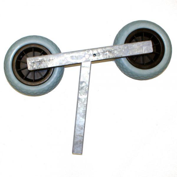 Vippa m. dubbelhjul plastfälg, diam. 260 mm. TK1108.