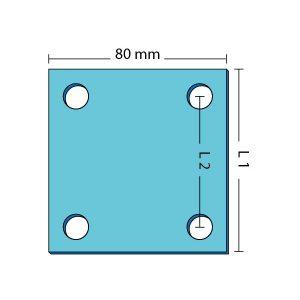 Fästplatta. Bredd 80-100 mm.
